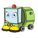 Vilma: kis utcaseprő autó. A belváros szűk utcáin is elfér. Szorgos és segítőkész, de fontoskodó és okoskodó is.